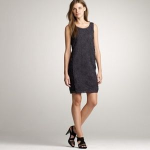 J.Crew Tulle Blossom Dark Grey Silk Dress